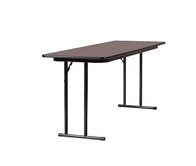 Correll 72-inch Wood, Steel & Plastic High-Pressure Folding Seminar Table, Walnut