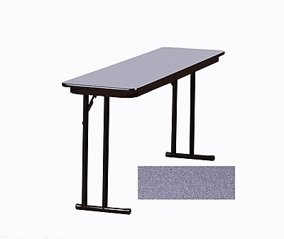 Correll Seminar 96'' Rectangular Folding Training Table, Gray Granite (ST1896PX-15)