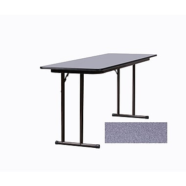 Correll Seminar 96'' Rectangular Folding Training Table, Gray Granite (ST2496PX-15)