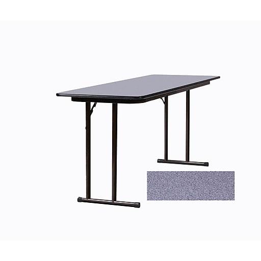 Correll 60-inch Wood, Steel & Plastic Seminar Folding Table, Gray Granite
