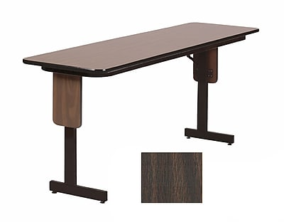 Correll 60-inch High-Pressure Laminate & Particle Board Panel Leg Folding Table, Walnut