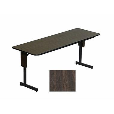 Correll 96-inch Metal, Particle Board & Laminate Panel Leg Folding Table, Walnut