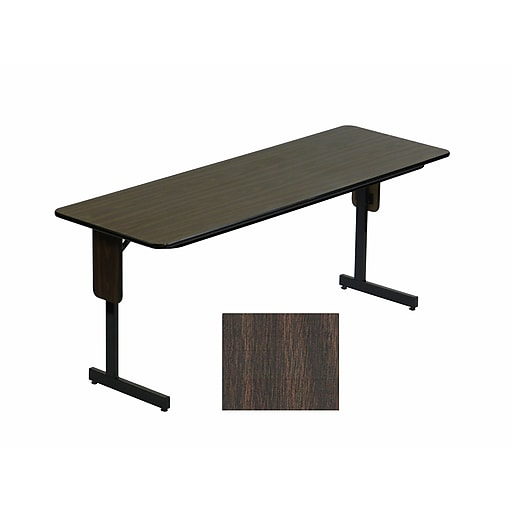Correll Inch Metal Laminate Panel Leg Folding Table Walnut - 60 inch conference table
