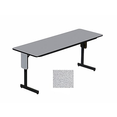 Correll 96-inch Metal, Particle Board & Laminate Panel Leg Folding Table, Gray Granite