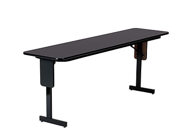 Correll 60-inch High-Pressure Laminate & Particle Board Panel Leg Folding Table, Black Granite