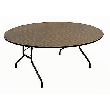 Correll Metal, Particle Board & Laminate High Pressure Round Folding Table