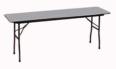 Correll 96-inch Metal, Particle Board & Laminate Seminar Table, Gray Granite