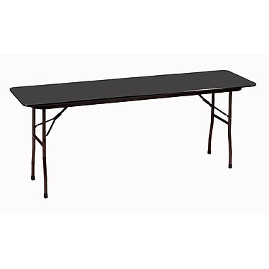 Correll 96-inch Metal, Particle Board & Laminate Seminar Table, Black Granite