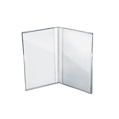 Azar Displays Acrylic Dual Frame Sign Holders, 10/Pack (107702)