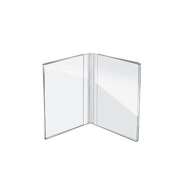 Azar Displays Dual Frame Sign Holders, 10/Pack (107722)