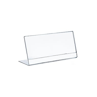 Azar Displays Horizontal Slanted Acrylic Sign Holder, 10/Pack (112717)