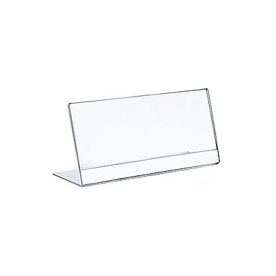 Azar Displays Horizontal Slanted Acrylic Sign Holder 10/Pack