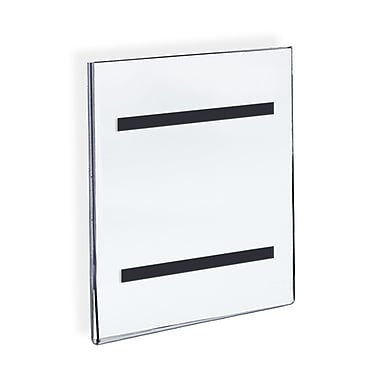 Azar Displays Acrylic Sign Holder with Magnetic Tape 11 x 8.5, 10/Pack (129921)