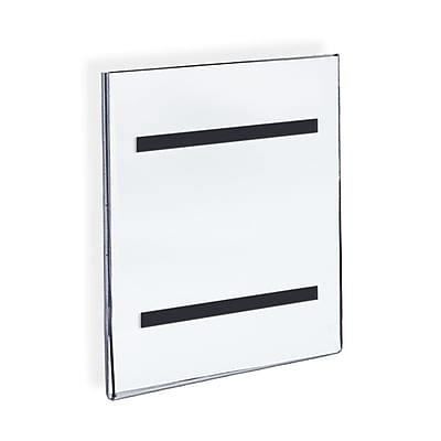 Azar Displays Wall Mount Sign Holder with Magnetic Tape 10/PK (129921)