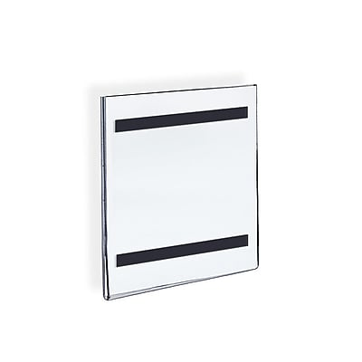 Azar Displays Vertical Wall Mount Sign Holder with Magnetic Tape 10/Pack