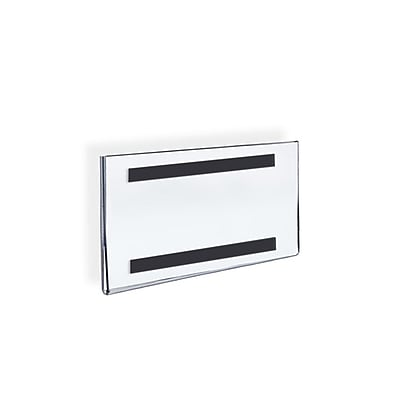 Azar Displays Acrylic Horizontal Wall Mount Sign Holder 5 x 7-inch 10/Pack