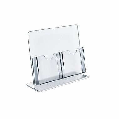 Azar Displays Counter Brochure Holders, 2 Tri-Fold Pockets, 2/Pack (222975-2 PACK)