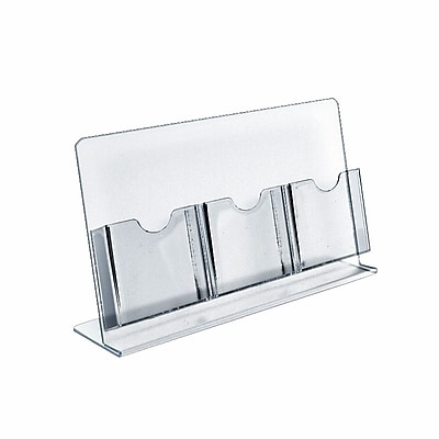 Azar Displays Counter Brochure Holders, 3 Tri-Fold Pockets