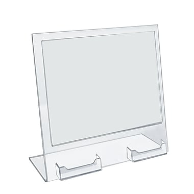 Azar Displays Slanted Sign Holder, 2/Pack (252075)