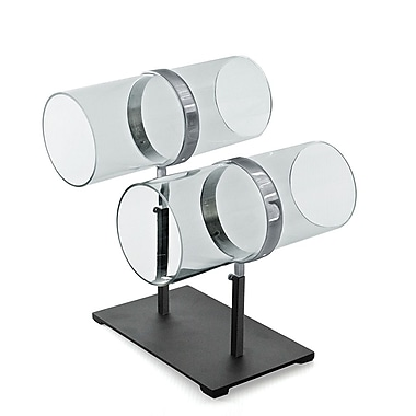 Azar Displays Dual Adjustable Pole Acrylic & Chrome Headband Counter Display