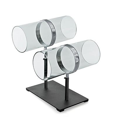 Azar Displays Dual Adjustable Pole Acrylic & Chrome Headband Counter Display