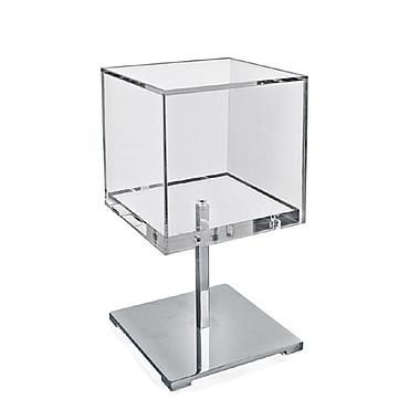 Azar Displays – Présentoir de comptoir cubique en acrylique chromé (300681)