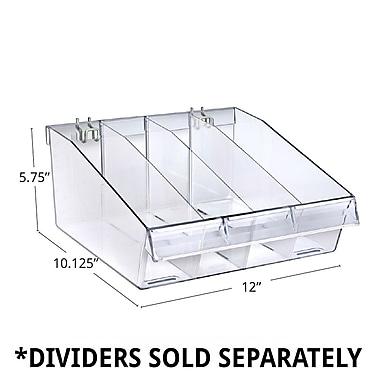 Azar Displays Deep Clear Divider Bin, 10.12