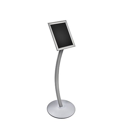 Azar Displays Frame Floor Display on Curved Stand, 8.5 x 11-inch