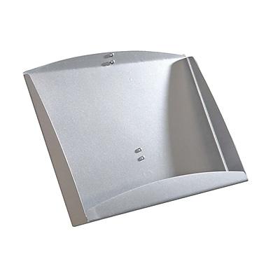 Azar Displays – Tablette en H pour brochures pour unité autonome, acier (300273-SLV)