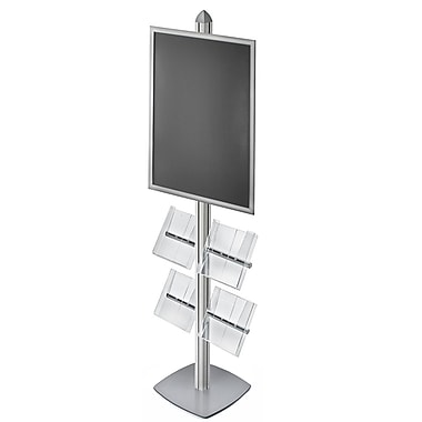 Azar Displays Sky Tower Brochure Holder (300292-SLV)