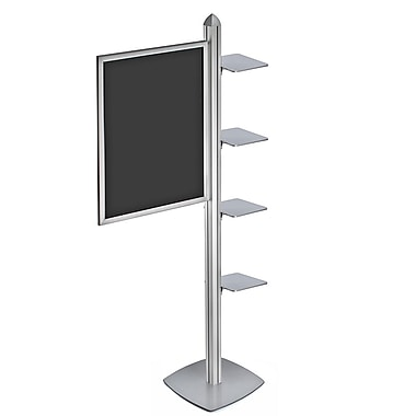 Azar Displays Sky Tower Display with Square Shelves (300295-SLV)