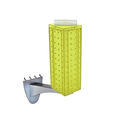 Azar 12 x 4-inch Yellow Pegboard Extension Display