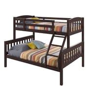 CorLivingMD – Lit simple superposé sur lit deux places BAF-290-B, collection Ashland, cappuccino sombre