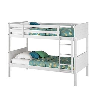 CorLiving – Lit jumeau superposé BAF-310-B de la collection Ashland, blanc neige
