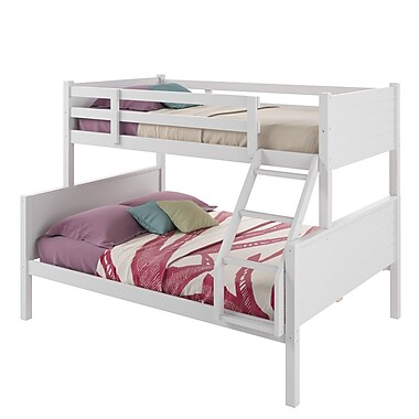 CorLiving BAF-410-B Ashland Twin-over-Full Bunk Bed, Snow White