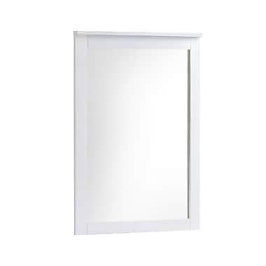 CorLiving – Miroir pour commode Ashland BAF-610-M, blanc neige