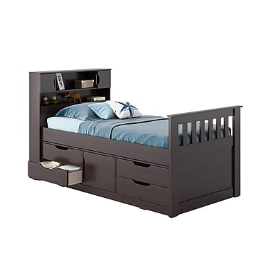 CorLiving BMG-170-B Madison Twin/Single Captain's Bed, Rich Espresso