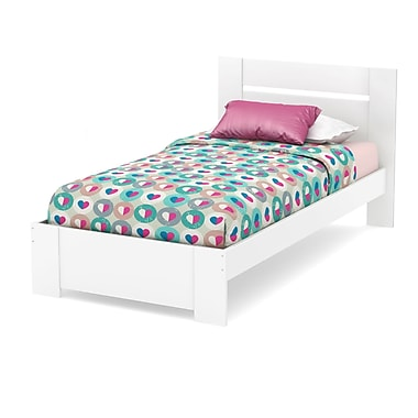 South Shore Reevo Twin Bed Set (39''), Pure White