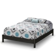 "South Shore Step One Queen Platform Bed (60""), Gray Oak"