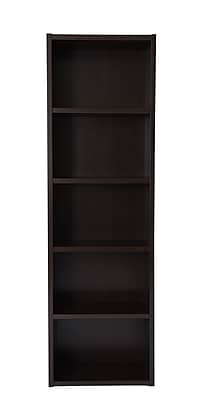 Boraam Techny Collection 23.5'' 5-Shelf Bookcase, Espresso (60010)
