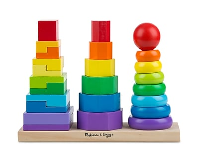 Melissa & Doug Geometric Stacker Toddler Toy 178103