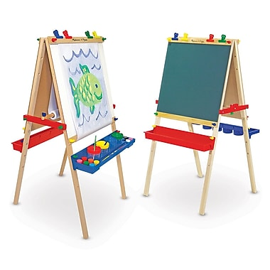 Melissa & Doug Deluxe Wooden Standing Art Easel Multi Color 47 x 27 inch