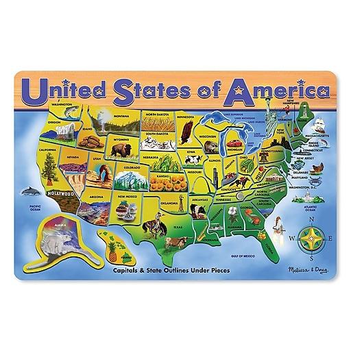 Melissa & Doug U.S.A. Map Wooden Puzzle