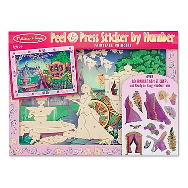 Melissa & Doug Fairytale Princess Peel & Press Sticker 16 x 12 inch
