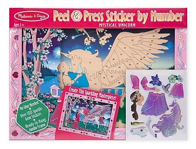 Melissa & Doug Peel & Press Sticker by Numbers 11.5 x 15.5 inch