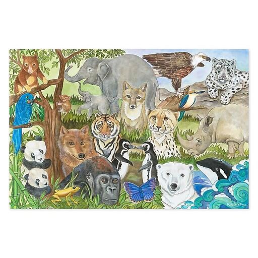 Melissa & Doug Endangered Species Floor Puzzle, 48 pc