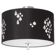 Dainolite Rhiannon 3 Light Semi Flush Mount; Black