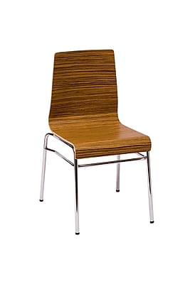 BFMSEATING Abby Side Chair; Zebrano