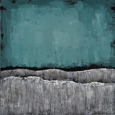 Empire Art Direct Teal Atmosphere Textured by Martin Edwards Painting