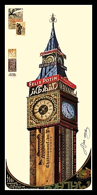 Empire Art Direct Big Ben London Dimensional Collage Hand Signed by Alex Zeng Framed Graphic Art
